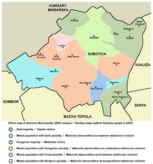 Bunjevac dialect - Image: Subotica ethnic mun