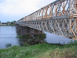 White Nile - A steel Bailey bridge spans the White Nile at Juba, South Sudan