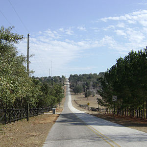 Sugarloaf Mountain (Florida) - Road leading to the summit of Sugarloaf Mountain