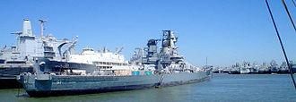 United States Navy reserve fleets - Image: Suisun fleet BB61