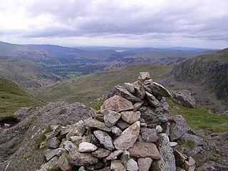 Calf Crag mountain in United Kingdom