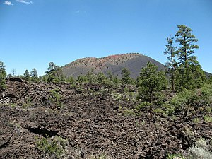Sunset Crater - A lava field at the foothills of the crater, estimated to be about 1000 years old.