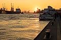 Sunset in Hamburg Port, 2016 (25739395442).jpg