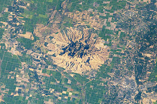 Sutter Buttes complex of eroded volcanic lava domes in California