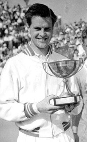 Sven Davidson - Sven Davidson after winning the 1957 French Tennis Championships.