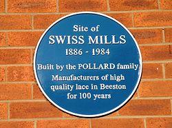 Swiss mills plaque