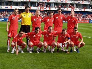 Hardturm - Swiss national football team at Hardturm (May 2006)