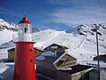 Switzerland ski resort and lighthouse on Oberalp Pass.jpg