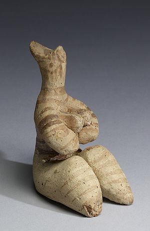 Halaf culture - Tel Halaf terracotta fertility figurine, 5000-4000 BC. Walters Museum