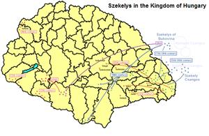 Székelys of Bukovina - Migrations of the Székelys