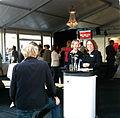 Tält på Konstmuseets gård Almedalsveckan 2014 Visby.jpg