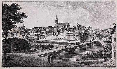 Tübingen - C. Obach lith(ographiert), G.Küstner gedr(uckt), Landesarchiv Baden-Wuerttemberg Hauptstaatsarchiv Stuttgart J 56 Bue 3.jpg
