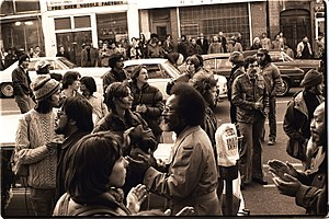 Cecil Williams (pastor) - Williams walking south on Kearny Street at the January 1977 protest