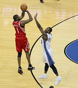 Tracy McGrady - McGrady shoots over DeShawn Stevenson in 2008