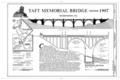 Taft Memorial Bridge, Title Page - Connecticut Avenue Bridge, Spans Rock Creek and Potomac Parkway at Connecticut Avenue, Washington, District of Columbia, DC HAER DC,WASH,560- (sheet 1 of 3).png