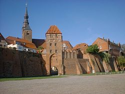 Elbe Gate and St Stephen's Church