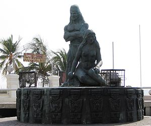 Tairona - Monument in Santa Marta depicting Tairona