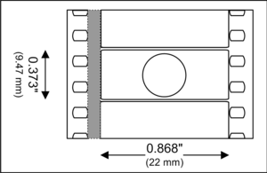 Techniscope - A Techniscope camera film frame