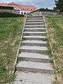 Teleki-Wattay Mansion, parking stairs, 2017 Pomáz.jpg