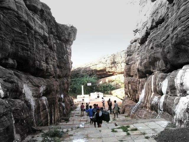 Temple area Badami Karnataka