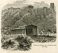 Temple of Theseus and Acropolis from the west - Mahaffy John Pentland - 1890.jpg