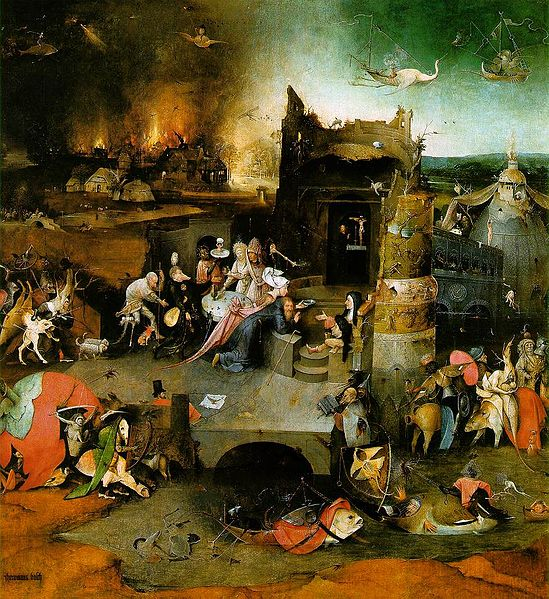 Ficheiro:Temptation of Saint Anthony central panel by Bosch.jpeg