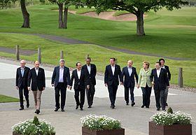 Ten leaders at G8 summit, 2013