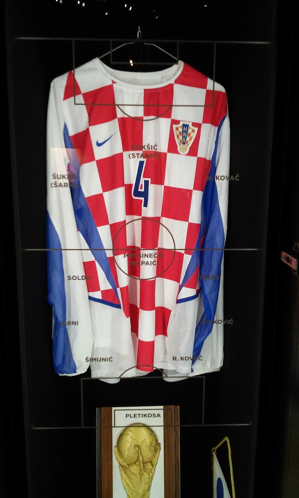 The 2002 Croatia's football home jersey