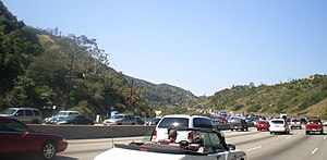 Interstate 405 (California) - I-405 in the Sepulveda Pass