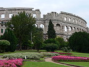 Arena, the Roman amphitheatre in Pula