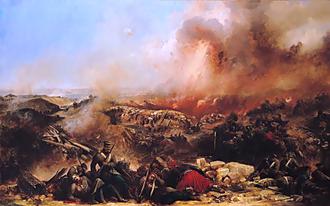 Samuel Evans (VC) - Depiction of the Siege of Sebastopol