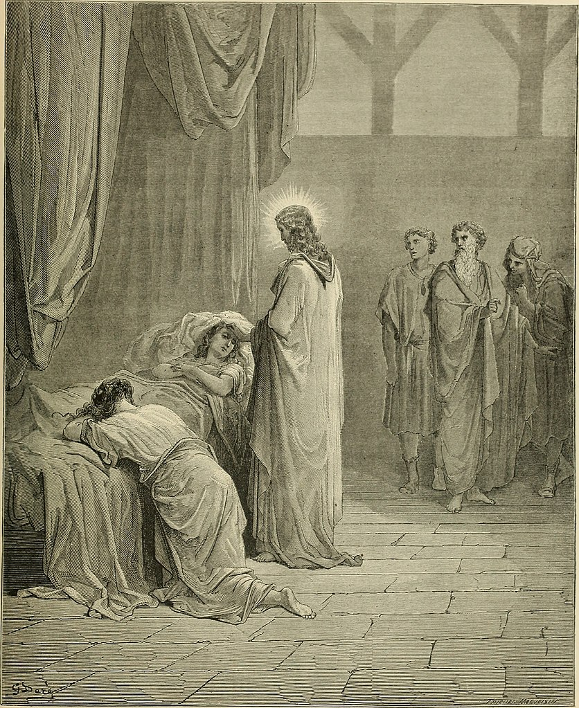 야이로의 딸을 살리신 예수님 (귀스타브 도레, Gustave Dore, 1866년)