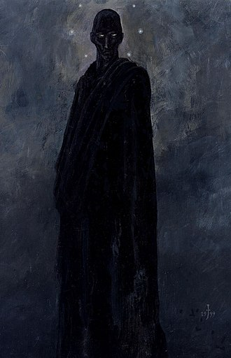 """Nyarlathotep - Nyarlathotep, described as the Black Man in H. P. Lovecraft's story """"The Dreams in the Witch House""""."""
