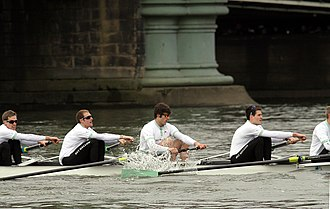 George Nash (rower) - Nash (second left) in the Cambridge 2013 Boat Race crew