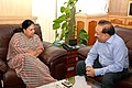 The Chief Minister of Rajasthan, Smt.Vasundhara Raje Scindia calling on the Union Minister for Health and Family Welfare, Dr. Harsh Vardhan, in New Delhi on July 03, 2014.jpg