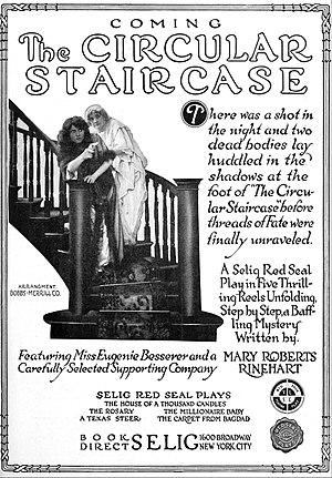 The Circular Staircase - Advertisement for film version, 1915