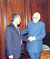 The Deputy Prime Minister of Mauritius Mr. Pravind Jugnauth calls on the Deputy Prime Minister Shri L.K. Advani in New Delhi on January 9, 2004.jpg