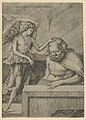 The Guardian Angel- an angel at left placing his hand on the head of a sleeping seated man MET DP853769.jpg