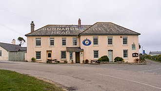 Gurnard's Head - The Gurnard's Head Hotel, viewed from the road.