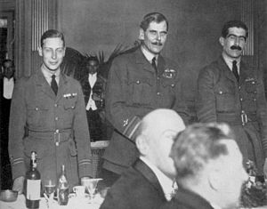 Christopher Courtney - Courtney (shown on right) with Trenchard and Prince Albert in 1919