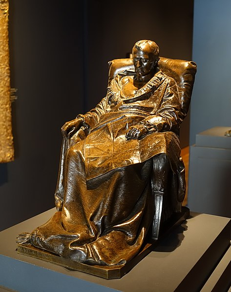File:The Last Days of Napoleon by Vincenzo Vela, after 1867, patinated bronze - Montreal Museum of Fine Arts - Montreal, Canada - DSC08782.jpg