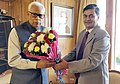 The Minister of State (IC) for Power and New and Renewable Energy, Shri Raj Kumar Singh calling on the Governor of Jammu and Kashmir, Shri N.N. Vohra, in Srinagar on October 10, 2017.jpg