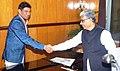 The Minister of State for Panchayati Raj, Shri Nihalchand meeting the Chief Minister of Tripura, Shri Manik Sarkar, in Agartala on January 05, 2016.jpg