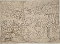 The Month of June, Shearing Sheep (recto); Couples Drinking Wine, The Month of October (verso) MET DP801446.jpg