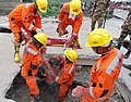 The NDRF personnel engaged in Search and Rescue Operations in the earthquake hit Nepal.jpg