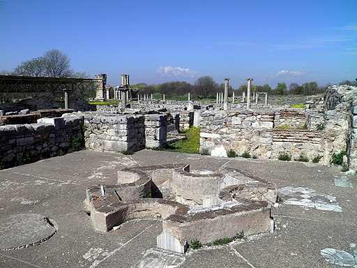 The Octagonal Basilica, the Baptistery, Philippi (7272881724)