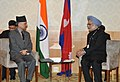 The Prime Minister, Dr. Manmohan Singh meeting the Prime Minister of Nepal, Mr. Baburam Bhattarai, on the sidelines of the UN Conference on Sustainable Development (Rio+20), at Rio de Janeiro, Brazil on June 21, 2012.jpg