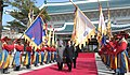 The Prime Minister, Dr. Manmohan Singh with the South Korean President, Mr. Lee Myung-bak, during the ceremonial welcome, in Seoul on March 25, 2012.jpg