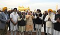 The Prime Minister, Shri Narendra Modi at the Golden Temple, in Amritsar, Punjab on March 23, 2015. The Chief Minister of Punjab, Shri Parkash Singh Badal and other dignitaries are also seen.jpg