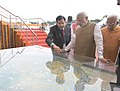 The Prime Minister, Shri Narendra Modi inspecting 3D model of the highway projects, at Sonipat, in Haryana on November 05, 2015. The Chief Minister of Haryana, Shri Manohar Lal Khattar is also seen.jpg